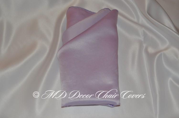 Lilac satin lamour napkin