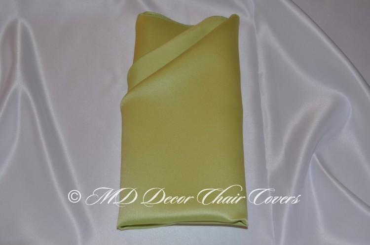 Lime Green satin l amour napkin