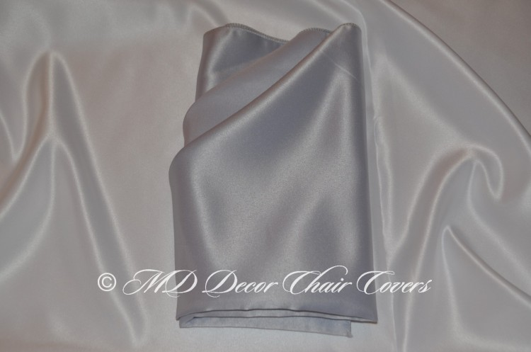 Silver blue satin lamour napkin