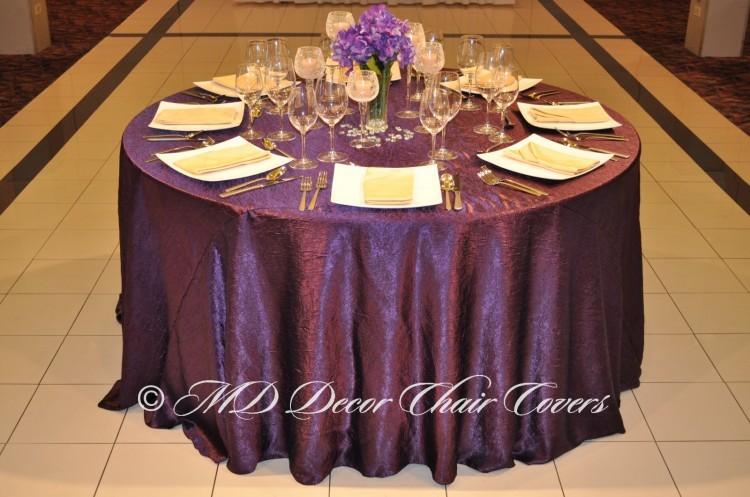 Deep-Purple-Crushed-Satin-Tablecloth