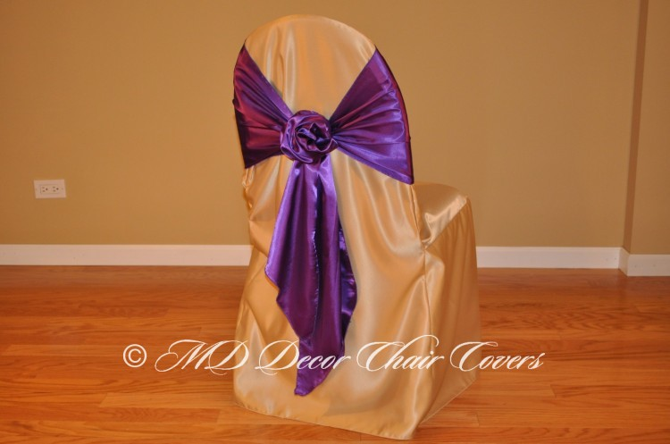 Deep Purple Rose Bow Style